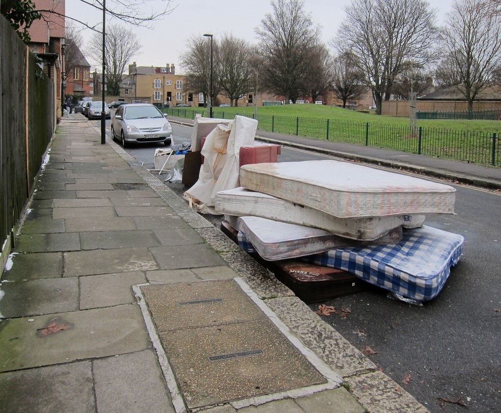 Mattresses & Sofas dumped on the road.