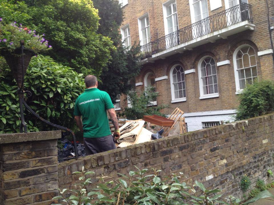 Rubbish Removal in London with JunkWize staff.