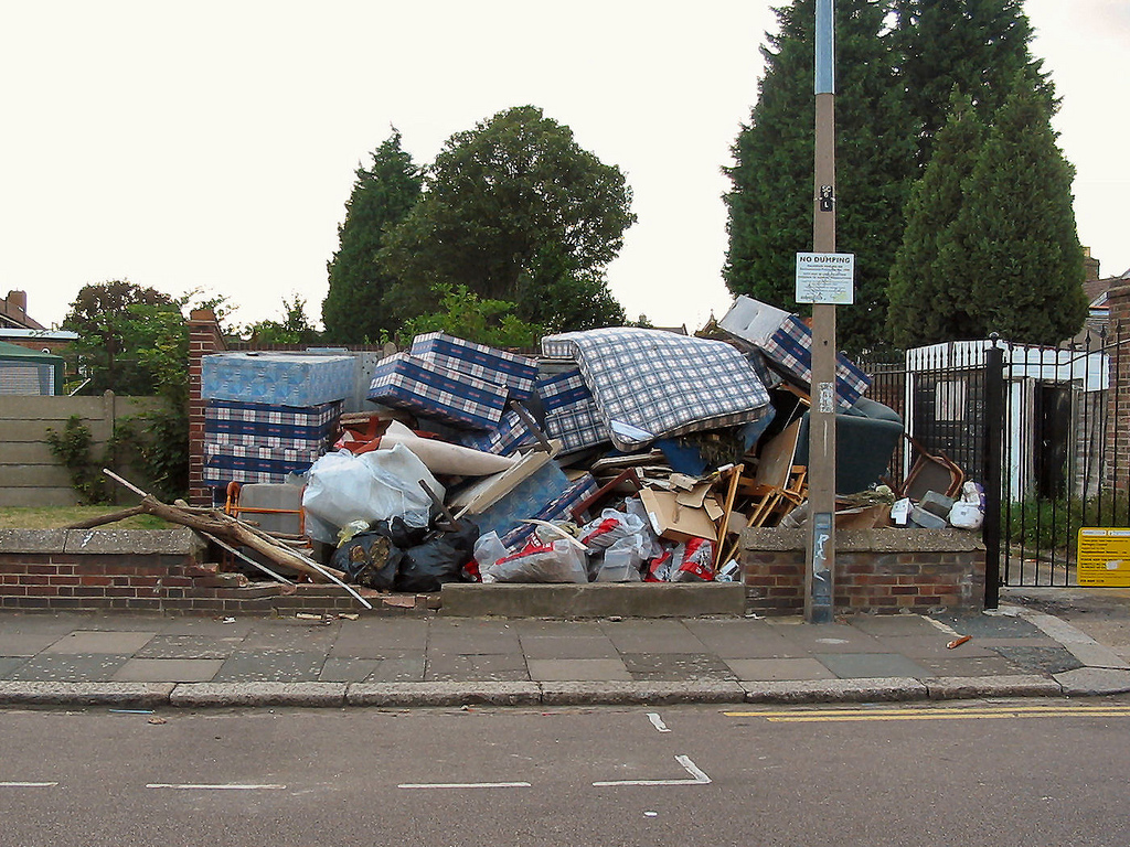 Fly-Tipping in North London.