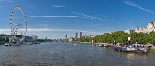 Summer day on the River Thames in London.